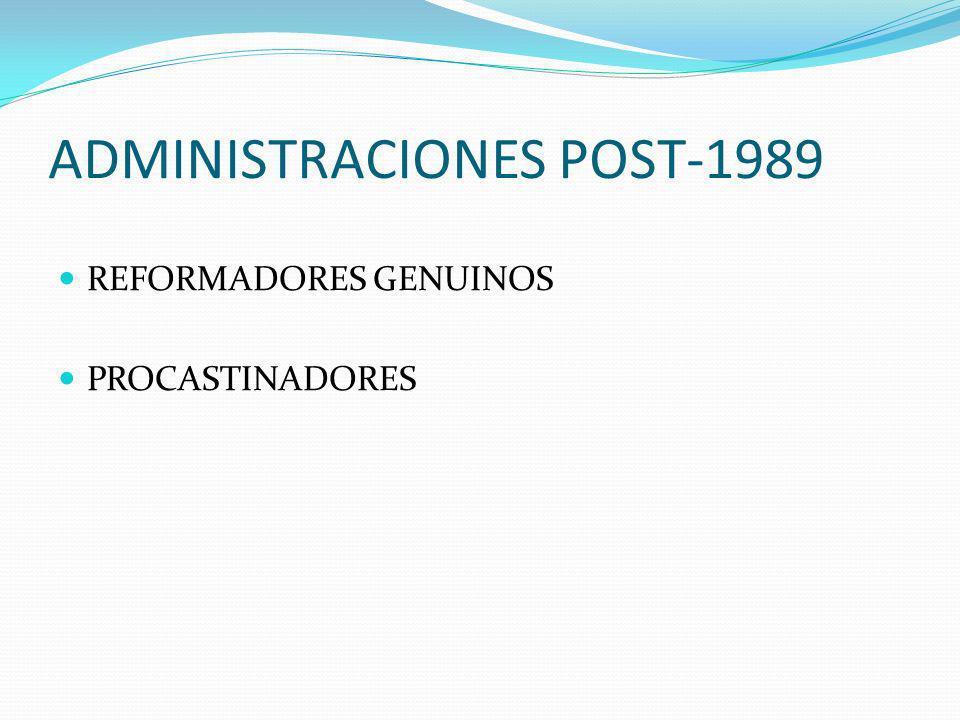 ADMINISTRACIONES POST-1989