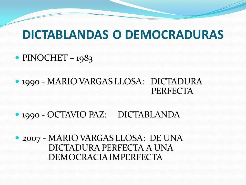 DICTABLANDAS O DEMOCRADURAS