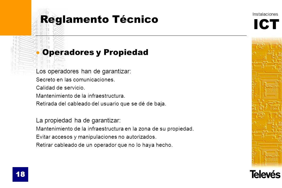 Reglamento Técnico Operadores y Propiedad