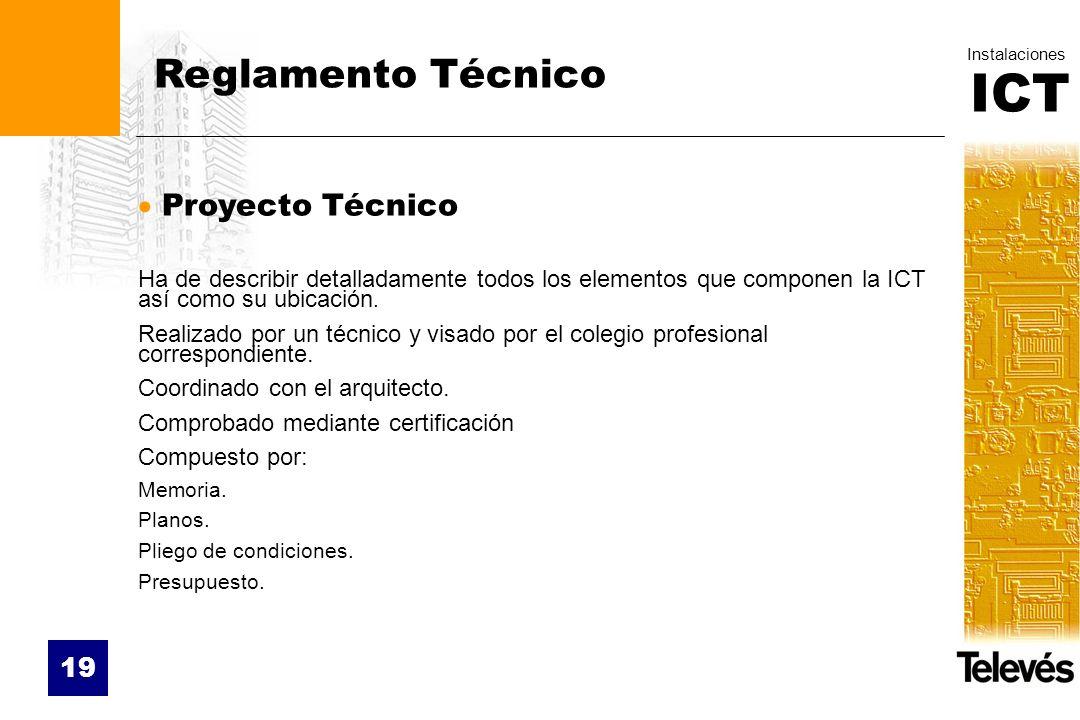 Reglamento Técnico Proyecto Técnico
