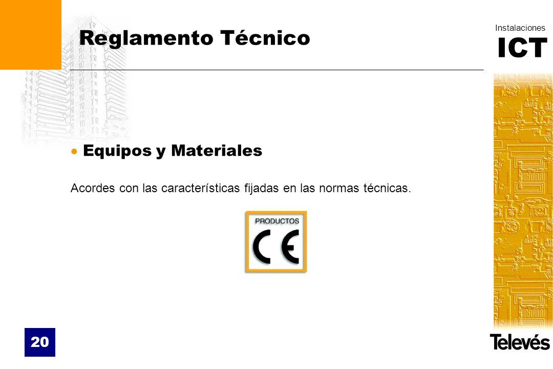 Reglamento Técnico Equipos y Materiales