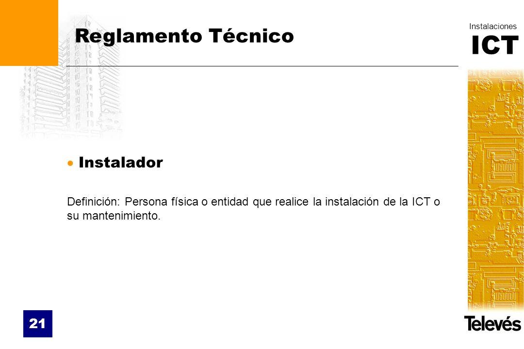 Reglamento Técnico Instalador