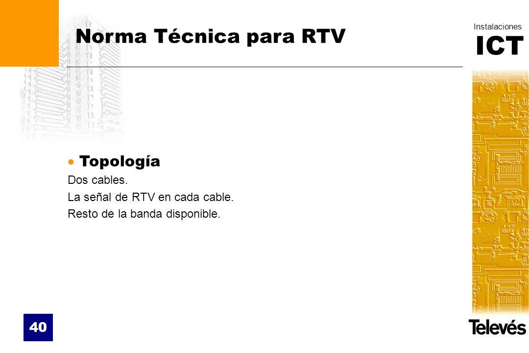 Norma Técnica para RTV Topología Dos cables.