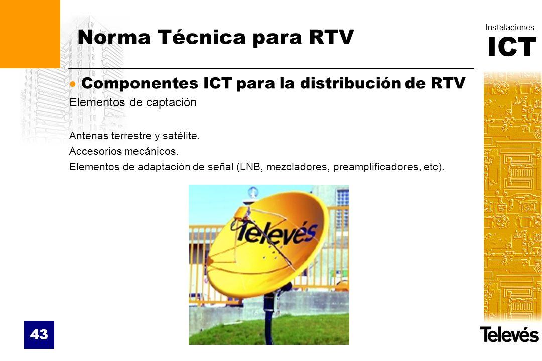 Norma Técnica para RTV Componentes ICT para la distribución de RTV