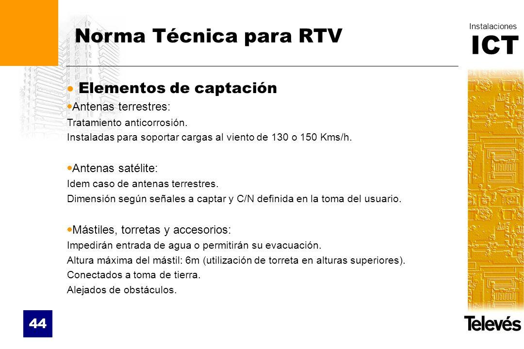 Norma Técnica para RTV Elementos de captación Antenas terrestres: