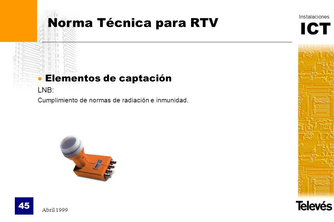 Norma Técnica para RTV Elementos de captación LNB: