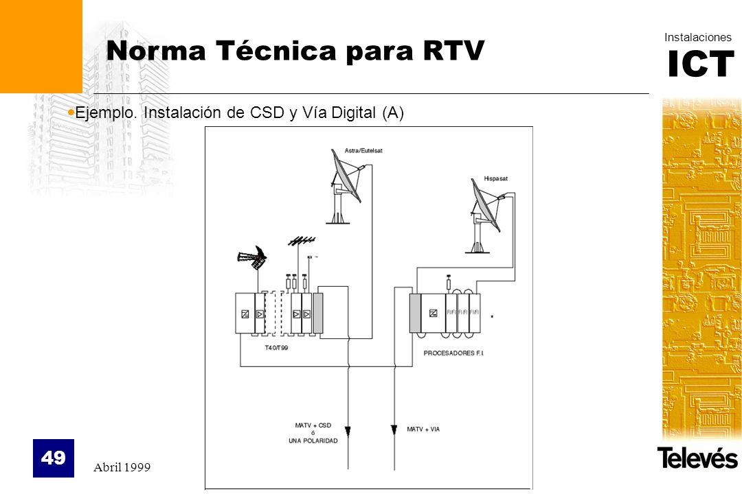 Norma Técnica para RTV Ejemplo. Instalación de CSD y Vía Digital (A)