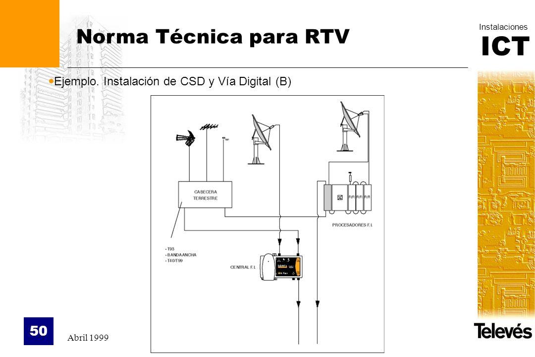 Norma Técnica para RTV Ejemplo. Instalación de CSD y Vía Digital (B)