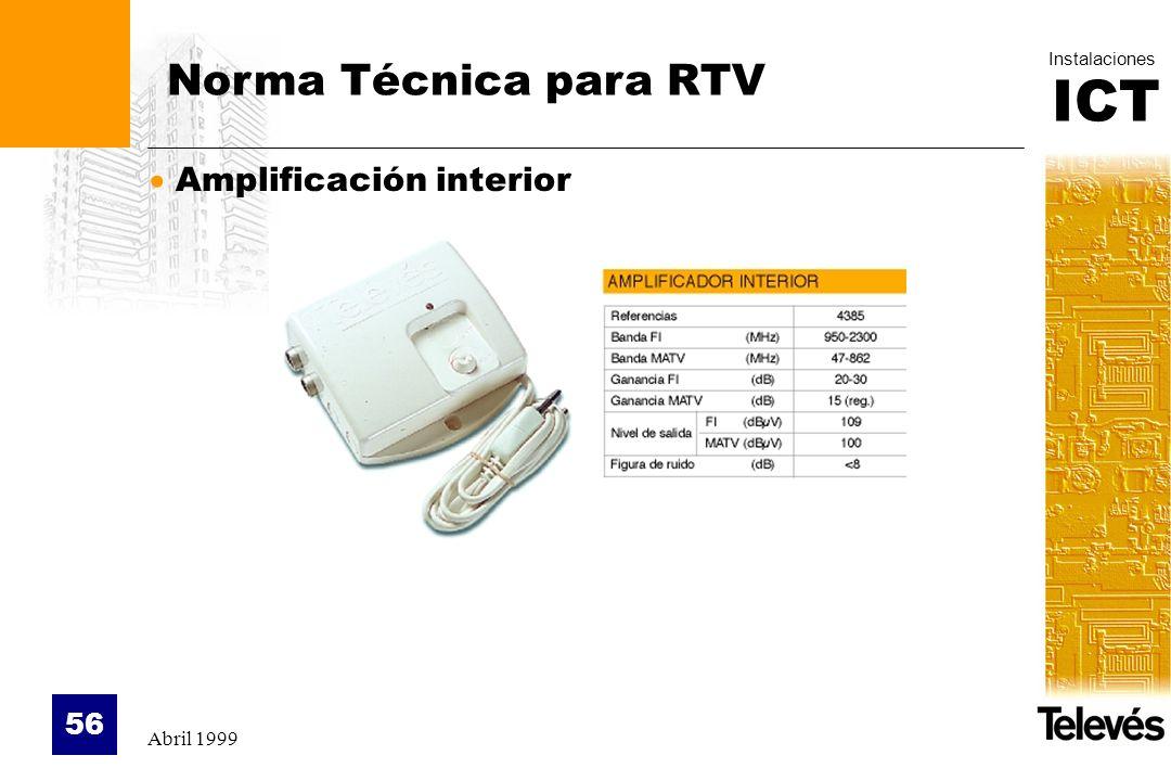 Norma Técnica para RTV Amplificación interior Abril 1999