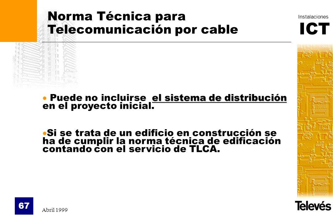 Norma Técnica para Telecomunicación por cable