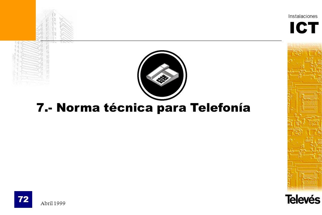 7.- Norma técnica para Telefonía