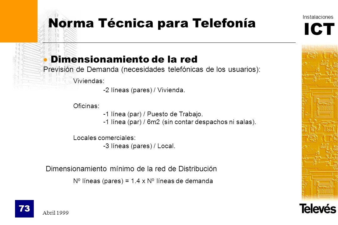 Norma Técnica para Telefonía