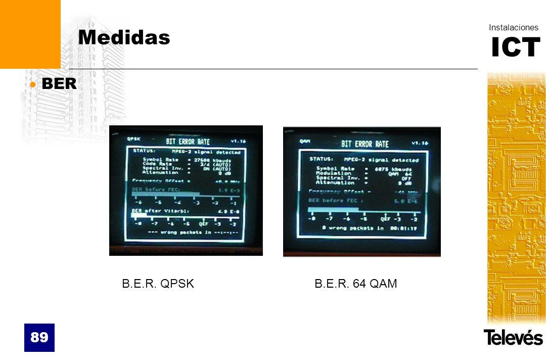 Medidas BER B.E.R. QPSK B.E.R. 64 QAM