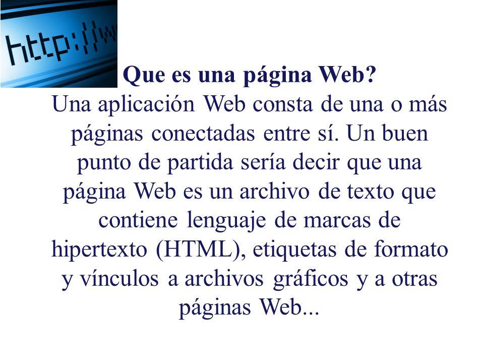 Que es una página Web