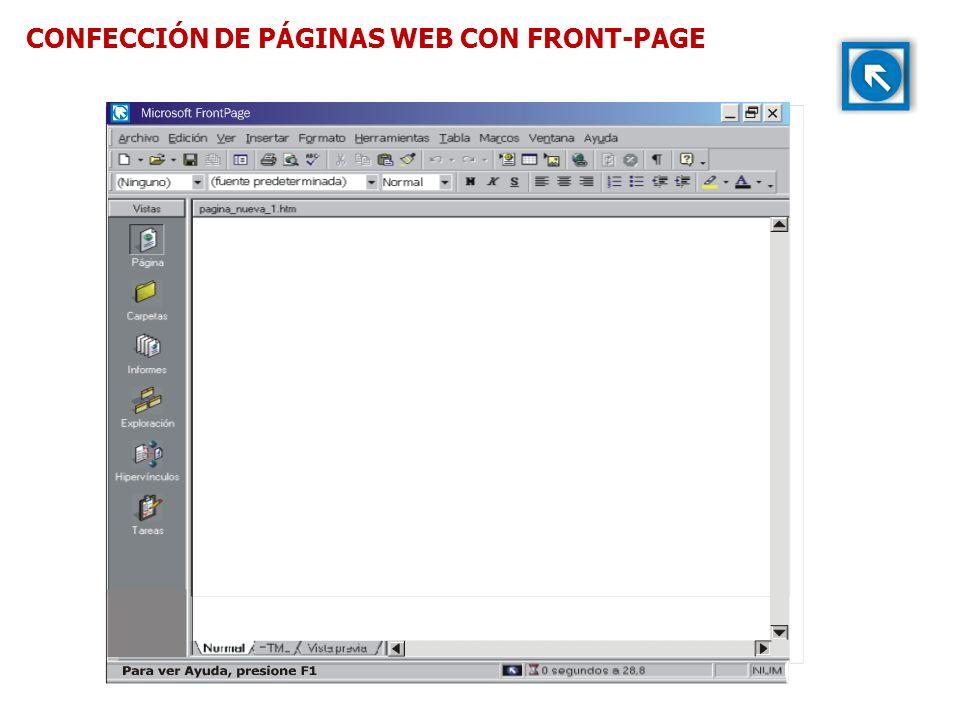 CONFECCIÓN DE PÁGINAS WEB CON FRONT-PAGE