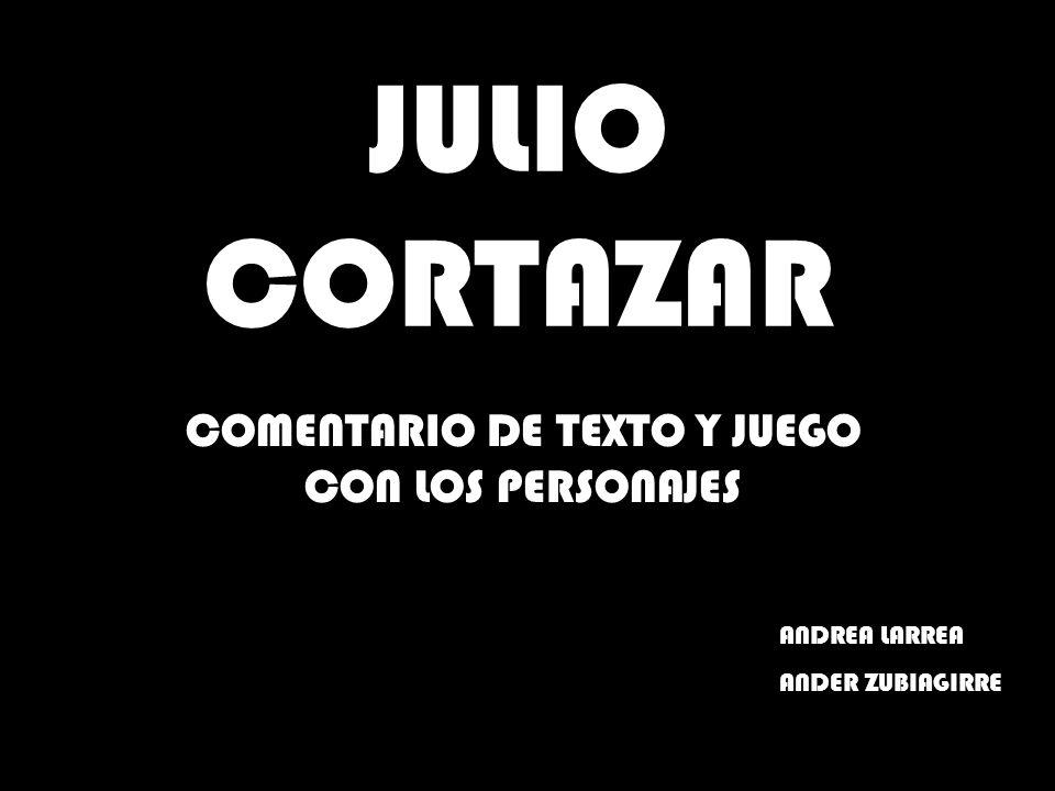 COMENTARIO DE TEXTO Y JUEGO CON LOS PERSONAJES