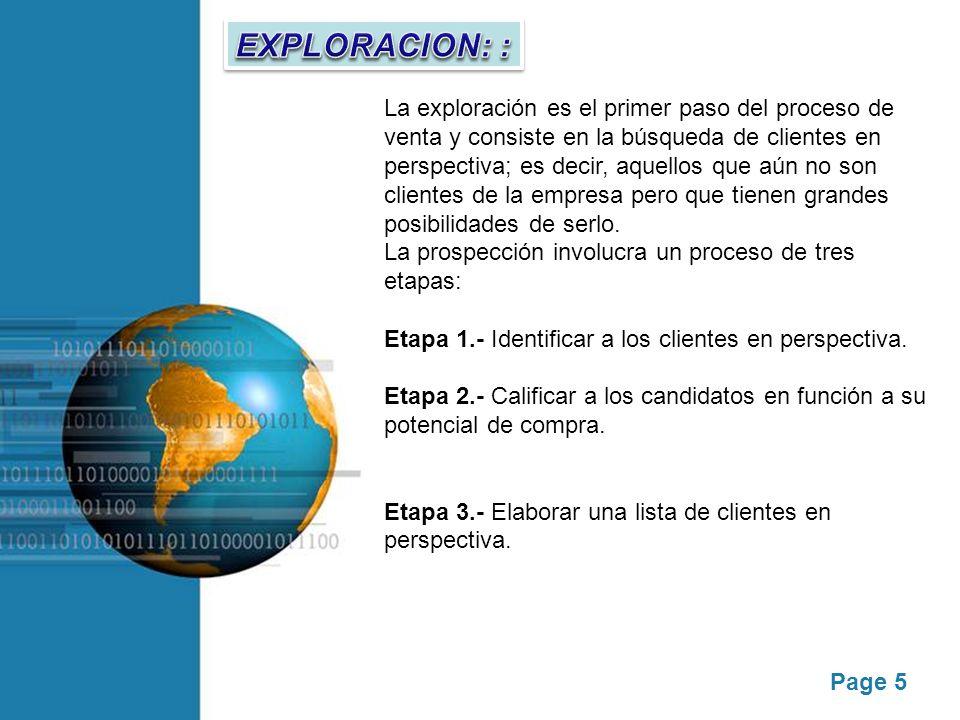 EXPLORACION: :