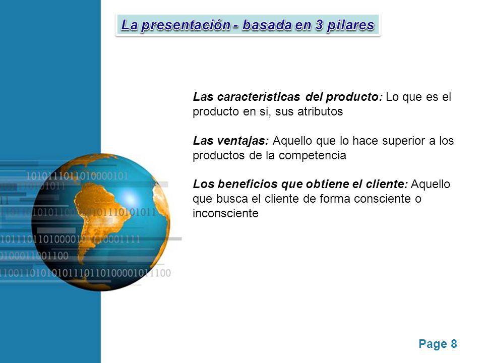 La presentación - basada en 3 pilares