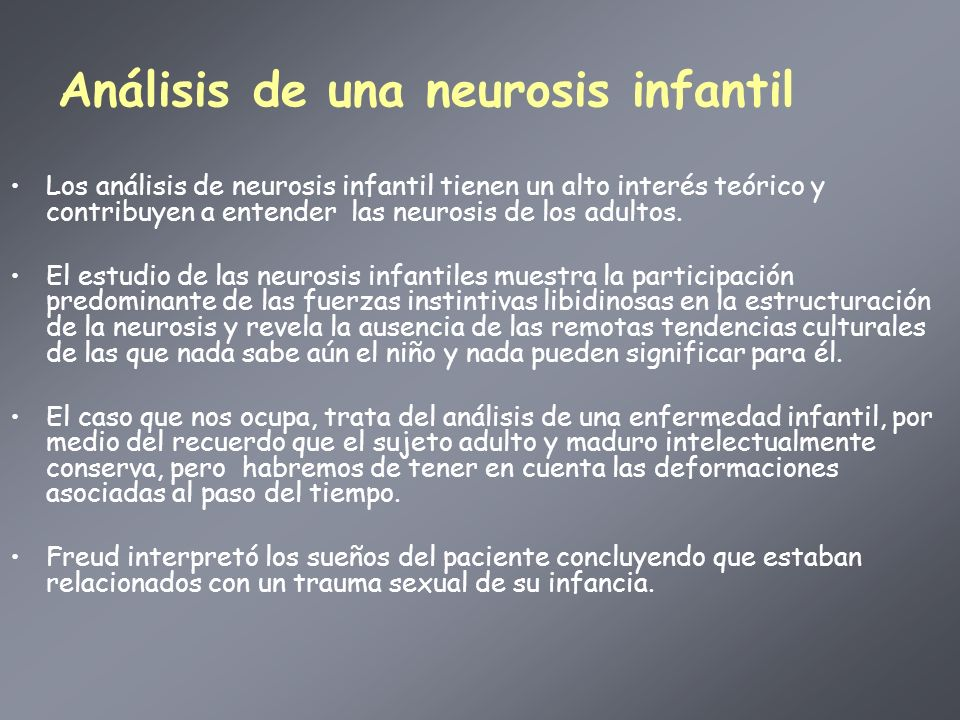Análisis de una neurosis infantil