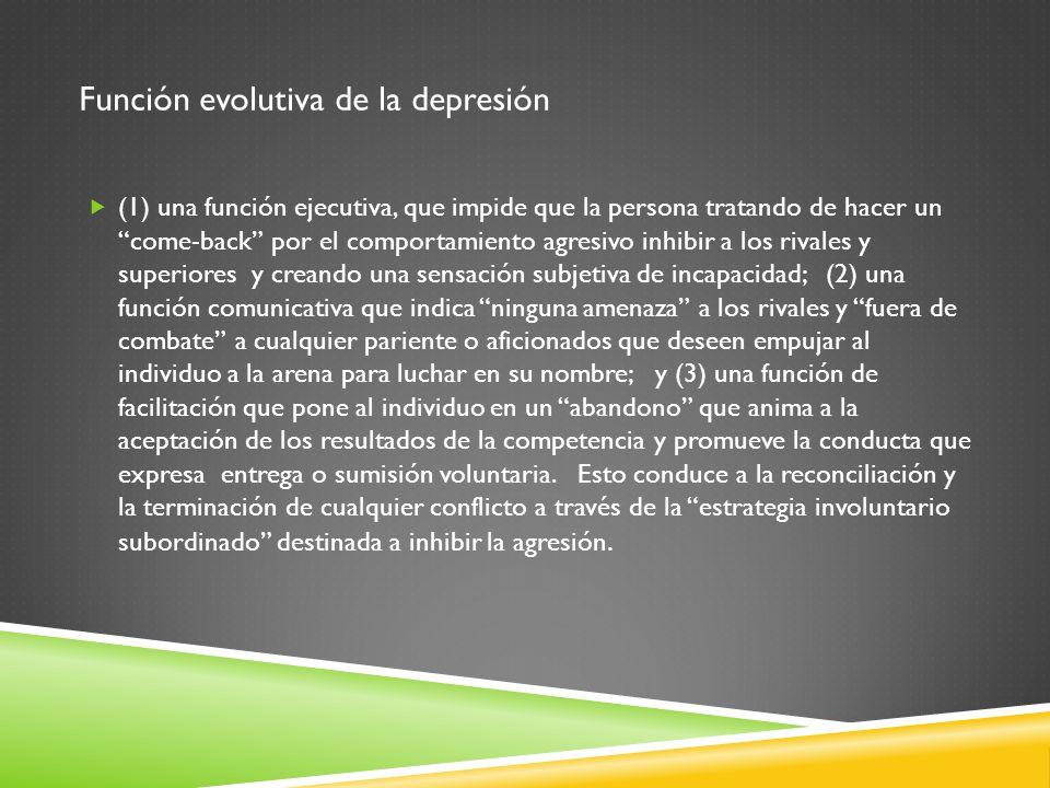 Función evolutiva de la depresión