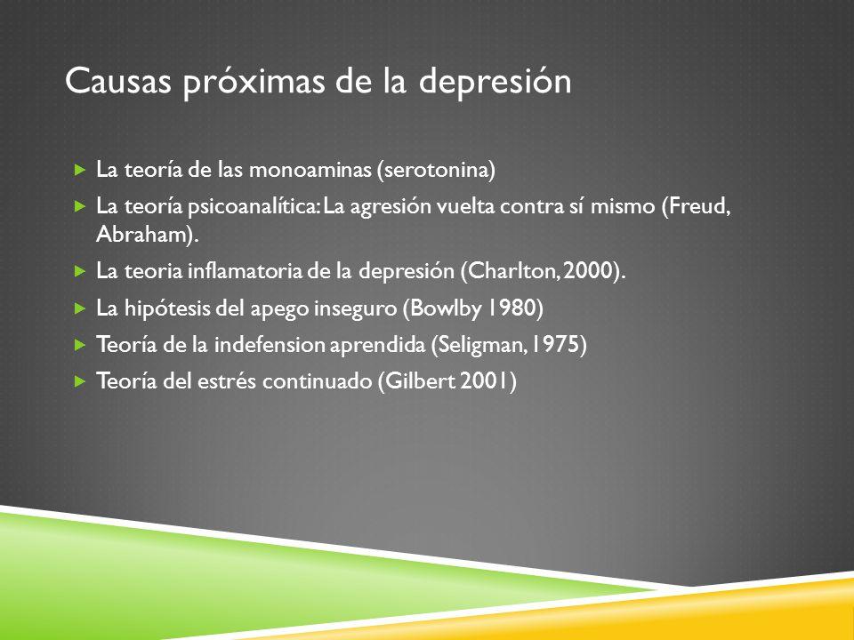 Causas próximas de la depresión