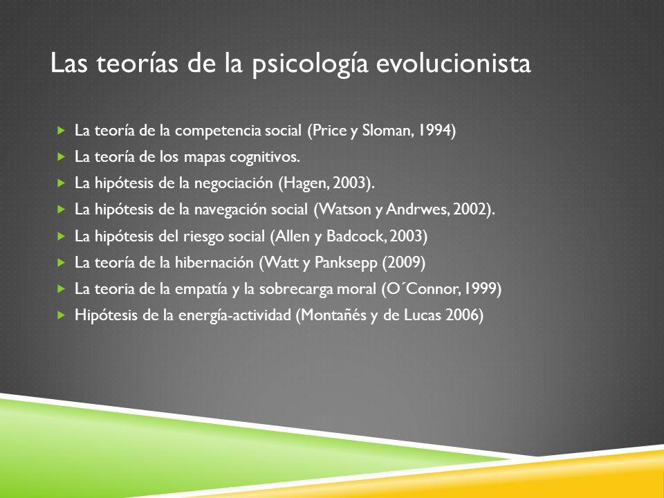 Las teorías de la psicología evolucionista