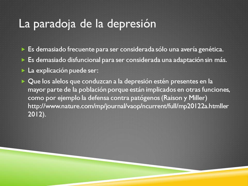 La paradoja de la depresión