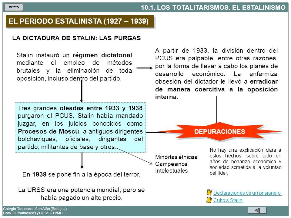 EL PERIODO ESTALINISTA (1927 – 1939)
