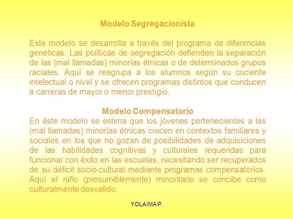 Modelo Segregacionista