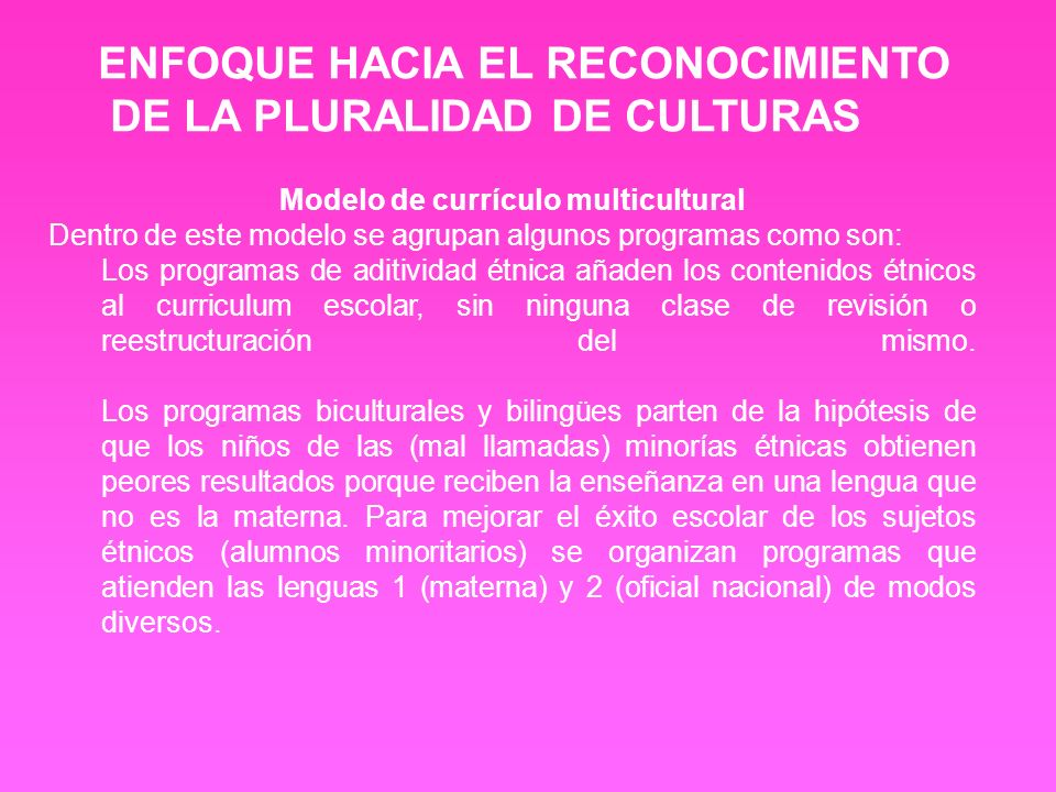 Modelo de currículo multicultural