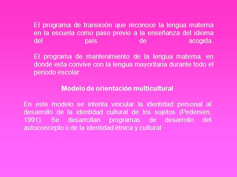 Modelo de orientación multicultural