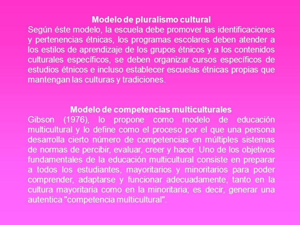 Modelo de pluralismo cultural