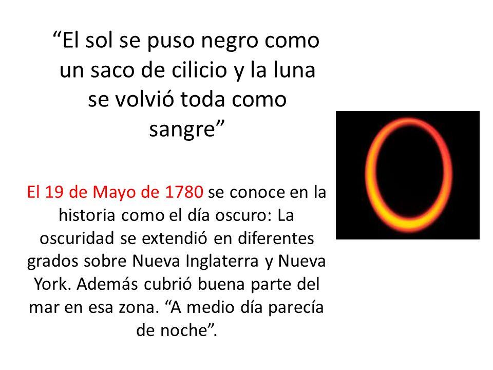 El sol se puso negro como un saco de cilicio y la luna se volvió toda como sangre