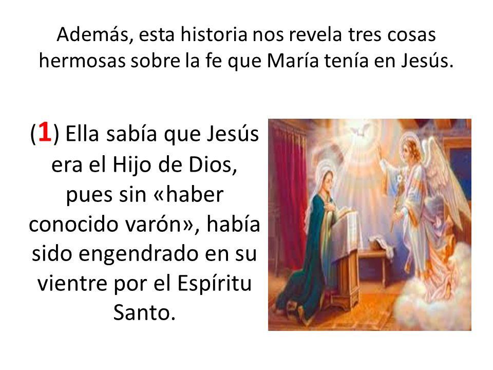 Además, esta historia nos revela tres cosas hermosas sobre la fe que María tenía en Jesús.