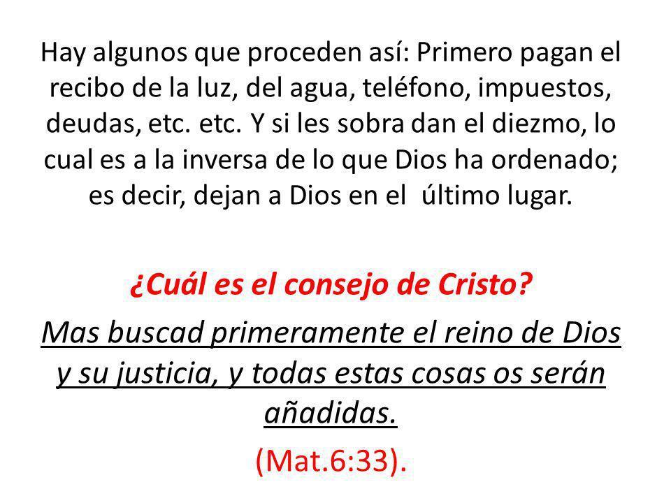 ¿Cuál es el consejo de Cristo