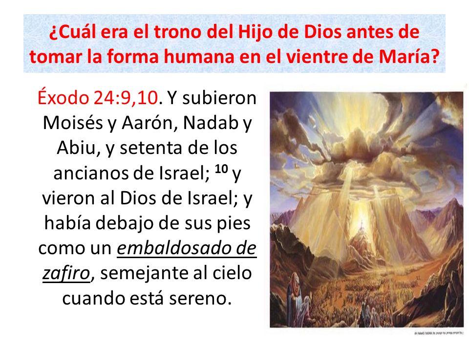¿Cuál era el trono del Hijo de Dios antes de tomar la forma humana en el vientre de María