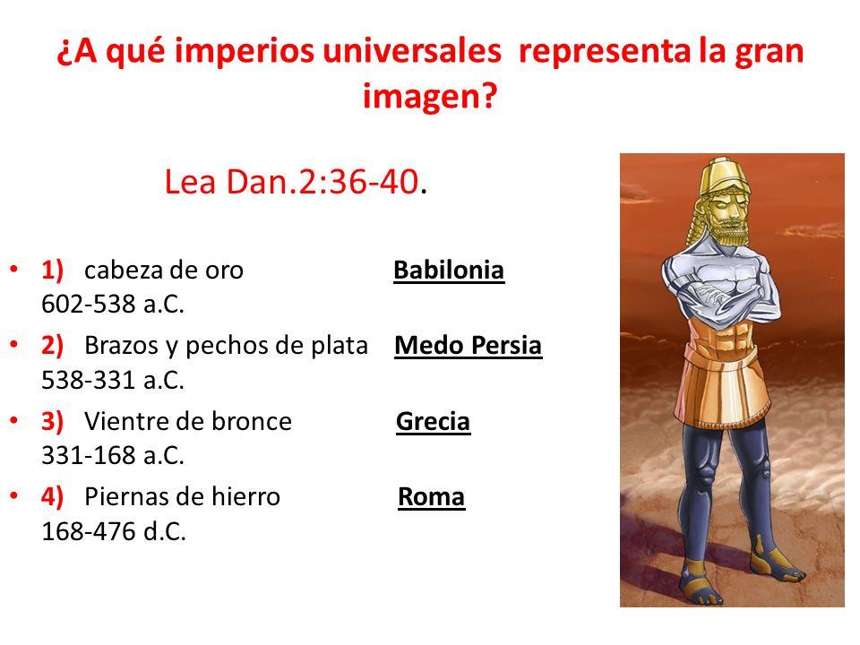 ¿A qué imperios universales representa la gran imagen