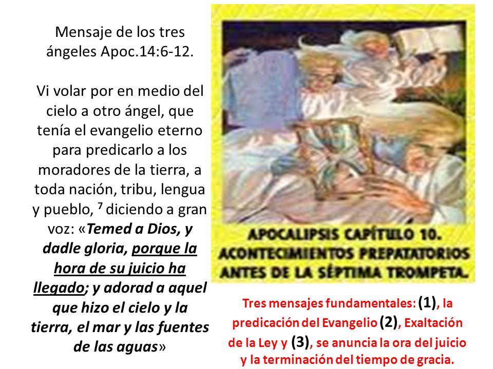 Mensaje de los tres ángeles Apoc. 14:6-12
