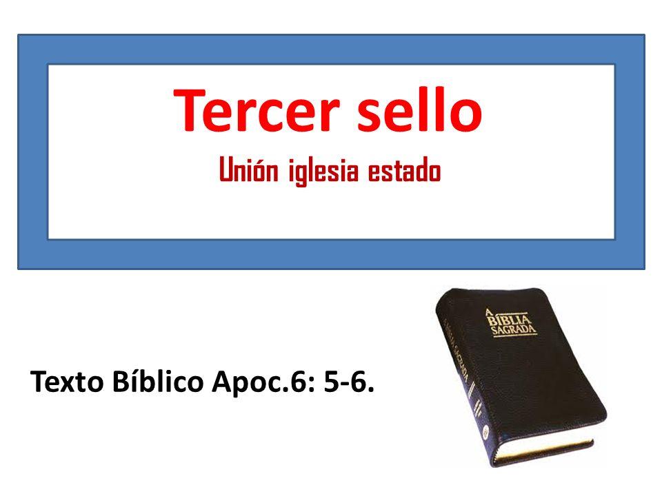 Tercer sello Unión iglesia estado