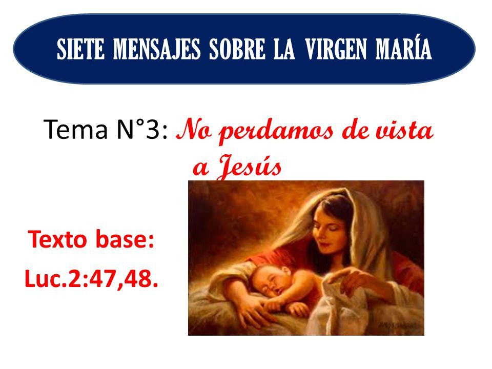 Tema N°3: No perdamos de vista a Jesús