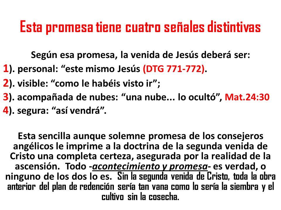 Esta promesa tiene cuatro señales distintivas