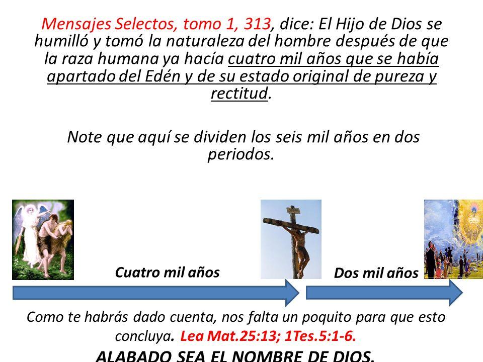 ALABADO SEA EL NOMBRE DE DIOS.