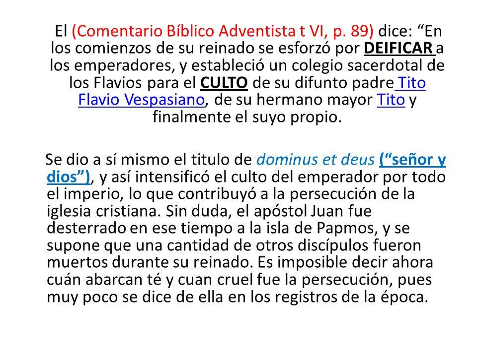 El (Comentario Bíblico Adventista t VI, p