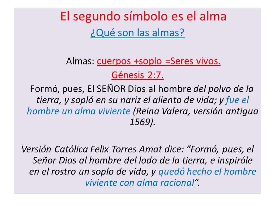 ¿Qué son las almas Génesis 2:7. El segundo símbolo es el alma