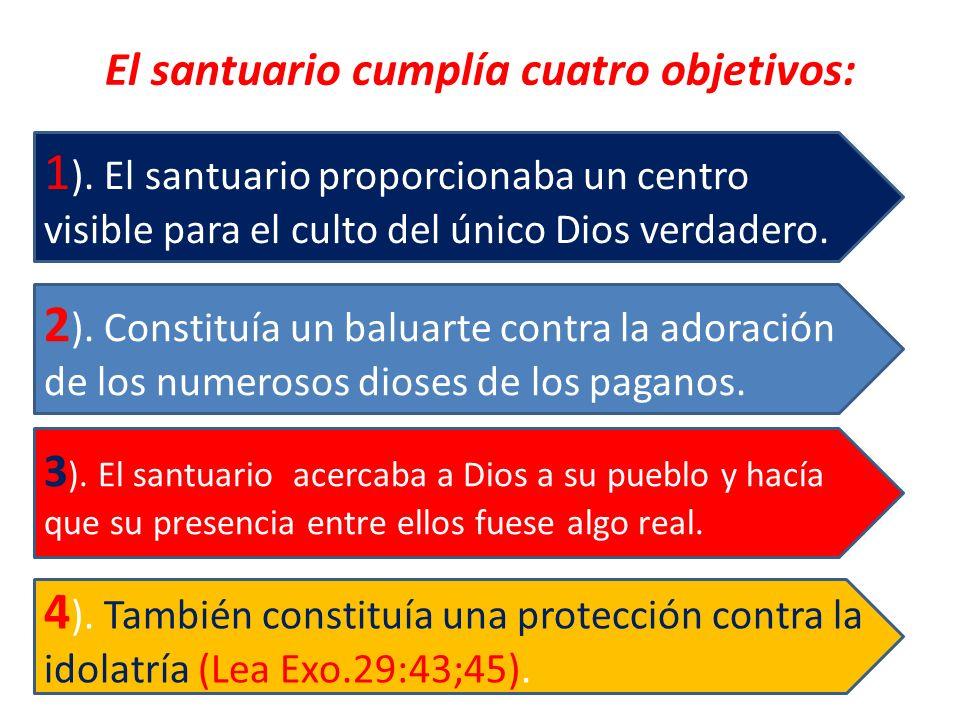 El santuario cumplía cuatro objetivos: