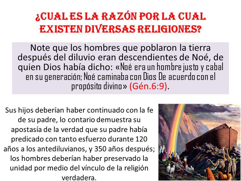 ¿Cual es la razón por la cual existen diversas religiones