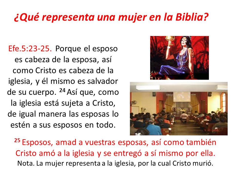 ¿Qué representa una mujer en la Biblia