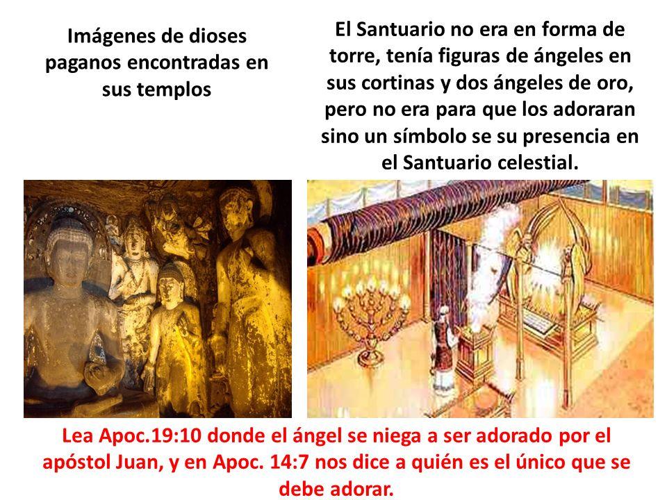 Imágenes de dioses paganos encontradas en sus templos