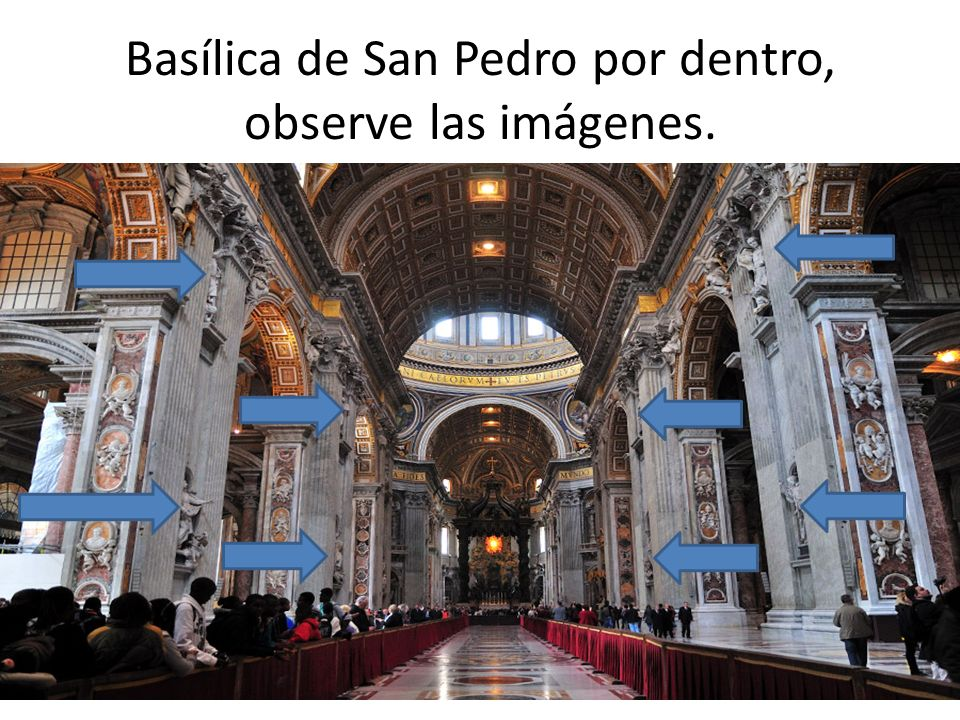 Basílica de San Pedro por dentro, observe las imágenes.