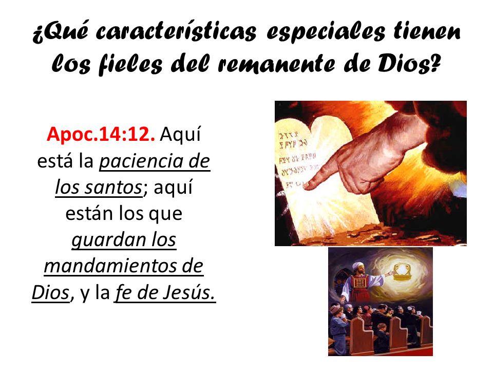 ¿Qué características especiales tienen los fieles del remanente de Dios